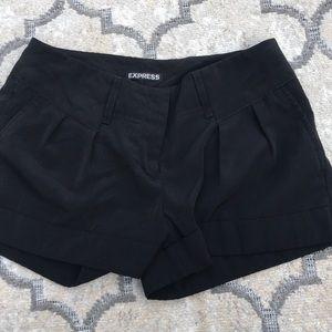 Black Express Pleated Shorts